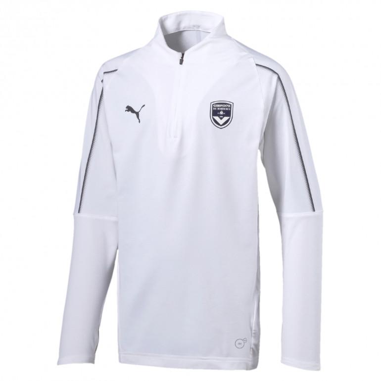 Sweat zippé junior Bordeaux blanc 2019/20