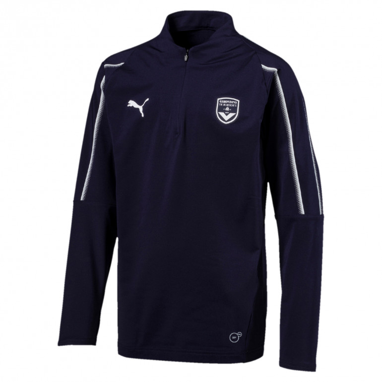 Sweat zippé junior Bordeaux bleu 2019/20