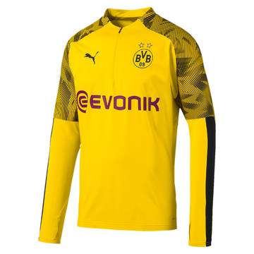 Sweat zippé Dortmund jaune 2019/20