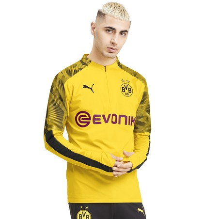 Sweat zippé Dortmund jaune 2019/20
