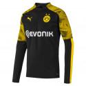Sweat zippé Dortmund noir jaune 2019/20