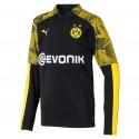 Sweat zippé junior Dortmund noir jaune 2019/20