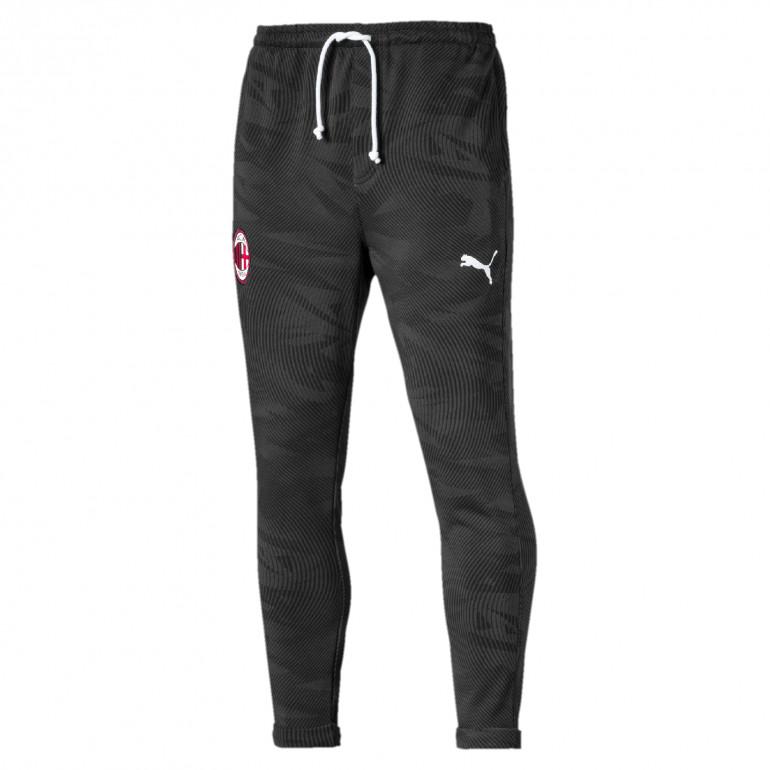Pantalon survêtement Milan AC molleton noir 2019/20