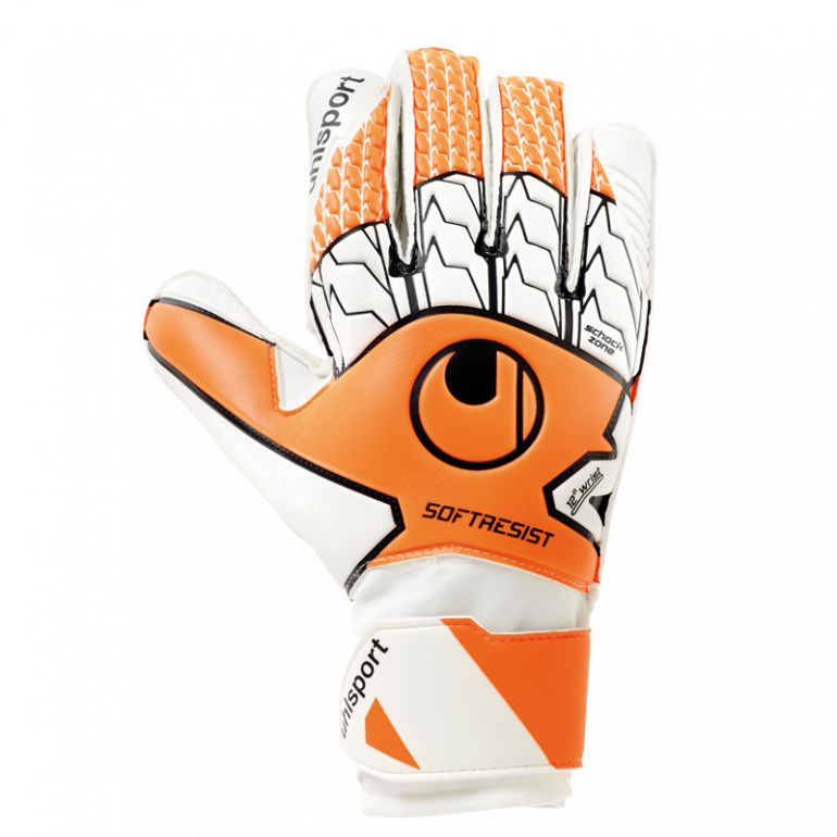 Gants gardien Uhlsport SOFT RESIST blanc orange 2019/20