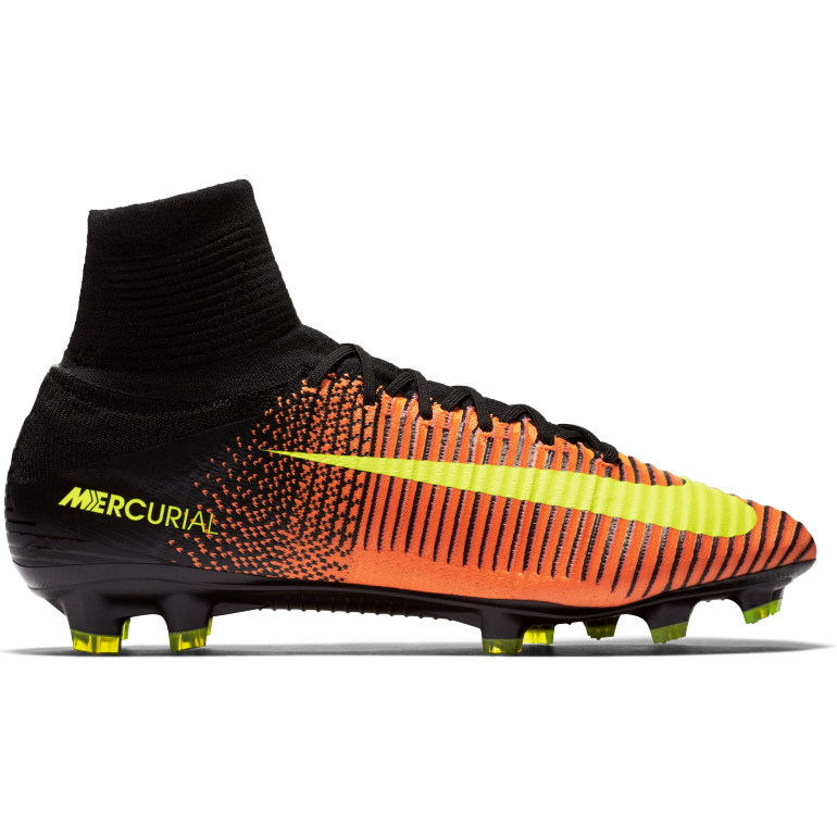 Mercurial Superfly V FG orange et noir
