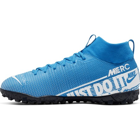 Mercurial Superfly VII junior Academy Turf bleu