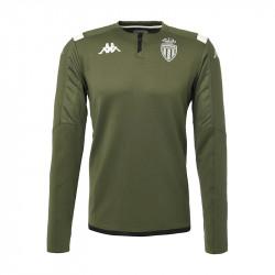 Sweat zippé AS Monaco vert 2019/20