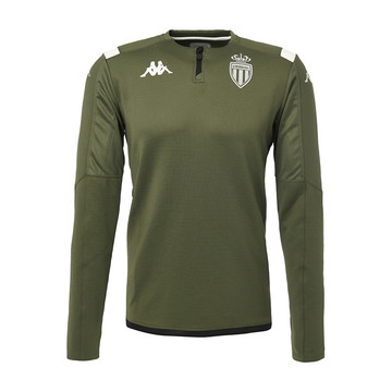 Sweat zippé junior AS Monaco vert 2019/20
