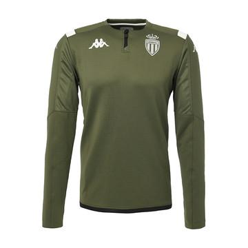 Sweat zippé junior AS Monaco vert 2019/20