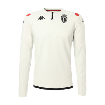Sweat zippé junior AS Monaco blanc 2019/20