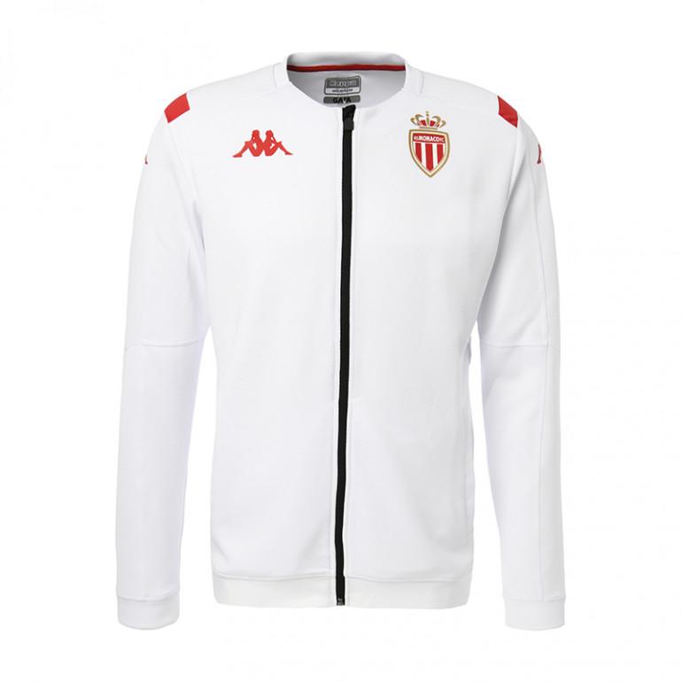 Veste survêtement AS Monaco Anthem blanc 2019/20