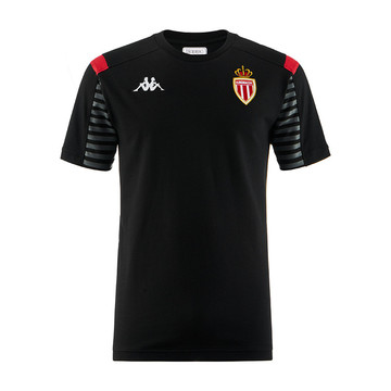 T-shirt junior AS Monaco noir 2019/20