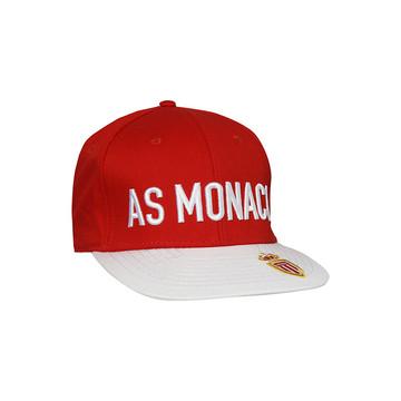 Casquette visière plate AS Monaco rouge blanc 2019/20