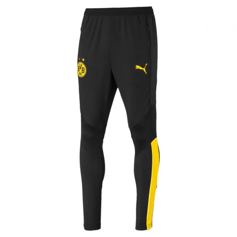 Pantalon entraînement Dortmund noir jaune 2019/20