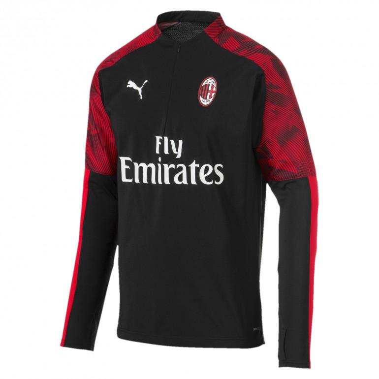 Sweat zippé Milan AC noir rouge 2019/20