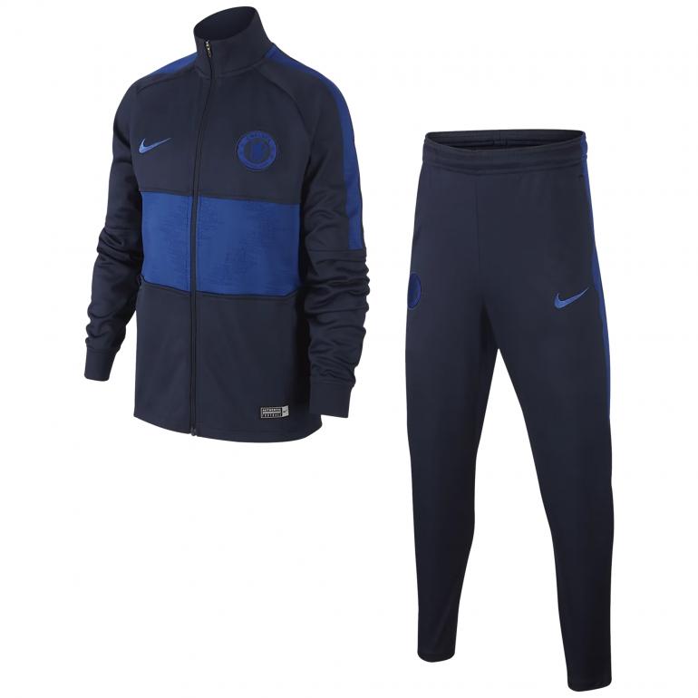 Ensemble survêtement junior Chelsea noir bleu 2019/20
