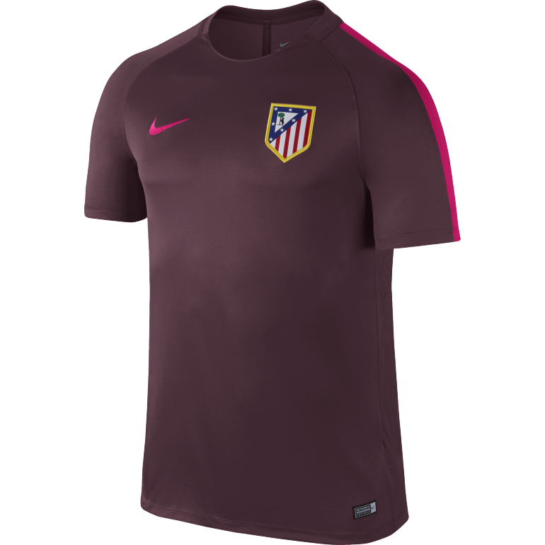 maillot entra nement atl tico madrid mauve 2016 2017 sur. Black Bedroom Furniture Sets. Home Design Ideas