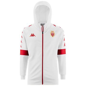 Veste survêtement à capuche AS Monaco blanc 2019/20
