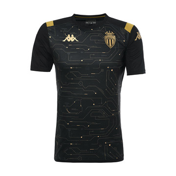 Maillot entraînement junior AS Monaco noir or 2019/20