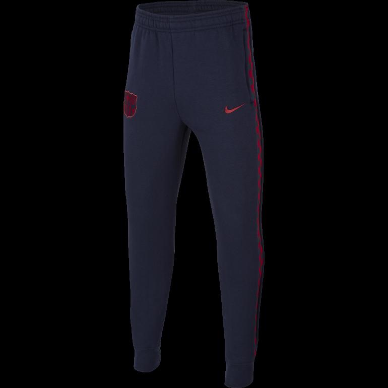 Pantalon survêtement Junior FC Barcelone GFA Fleece bleu rouge 2019/20