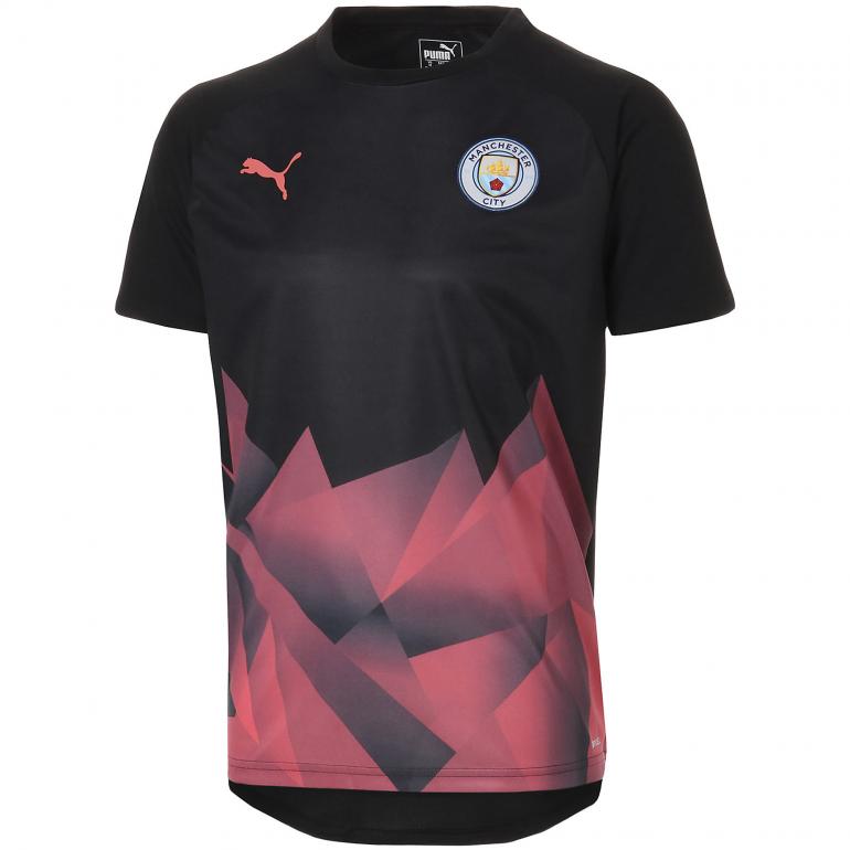 Maillot entraînement Manchester City noir rose 2019/20