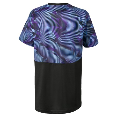 Maillot entraînement junior Manchester City noir violet 2019/20
