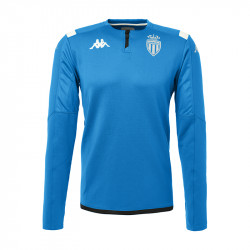 Sweat zippé AS Monaco bleu 2019/20