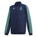 Veste survêtement junior Real Madrid bleu vert 2019/20