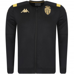 Veste survêtement junior AS Monaco noir or 2019/20
