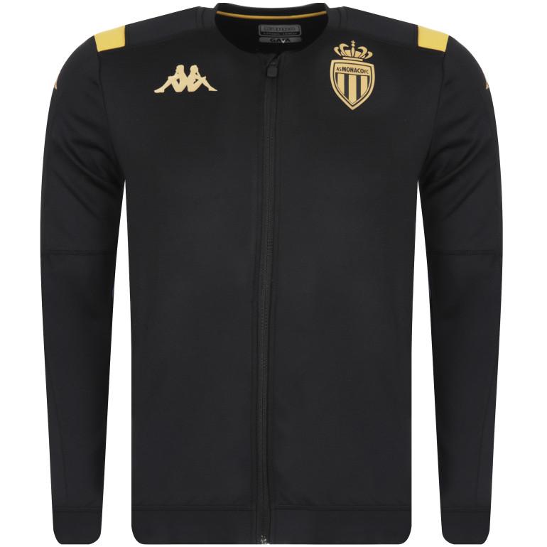 Veste survêtement junior AS Monaco noir or 2019/20
