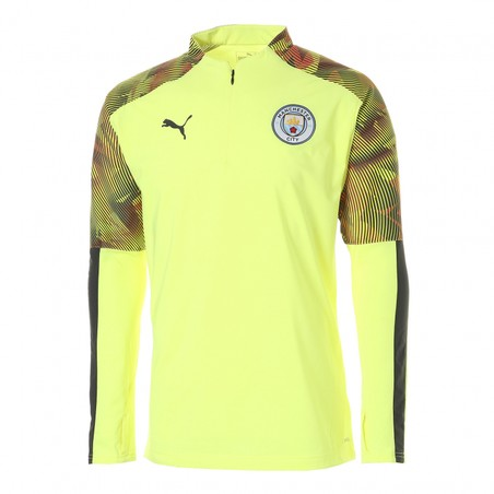 Sweat zippé Manchester City Fleece jaune 2019/20