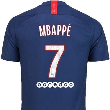 Maillot junior Mbappé PSG domicile 2019/20