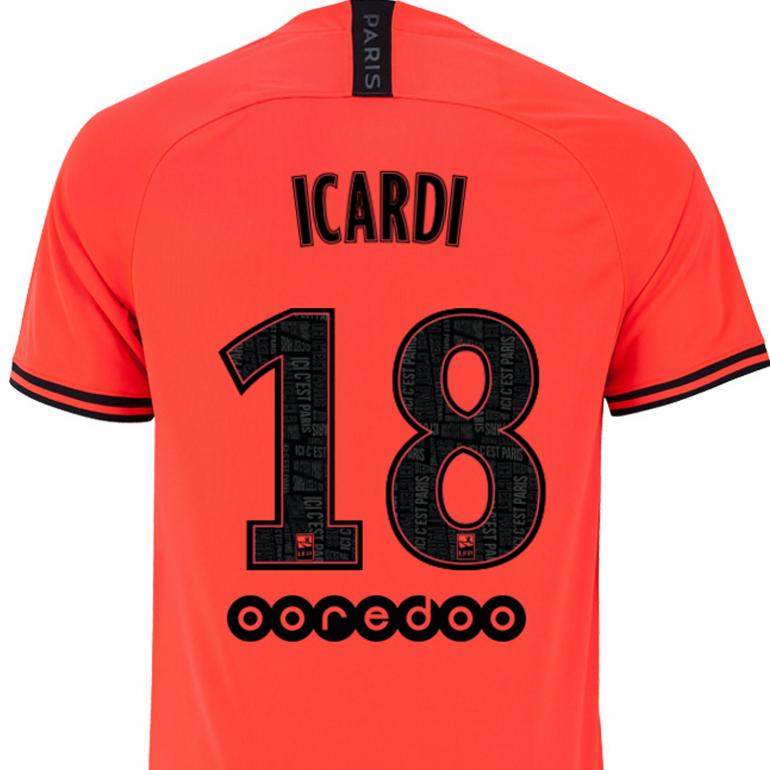 Maillot Icardi PSG Jordan extérieur 2019/20