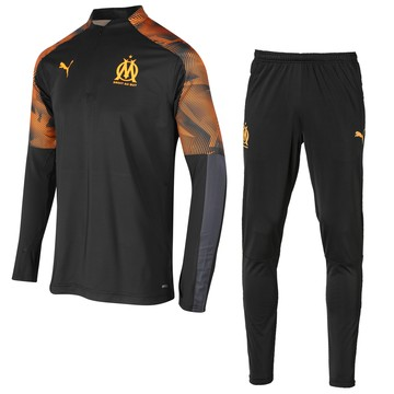 Ensemble survêtement sweat OM noir orange 2019/20