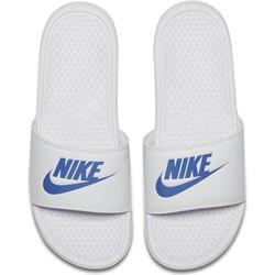 Sandales Nike Benassi blanc bleu 2018/19