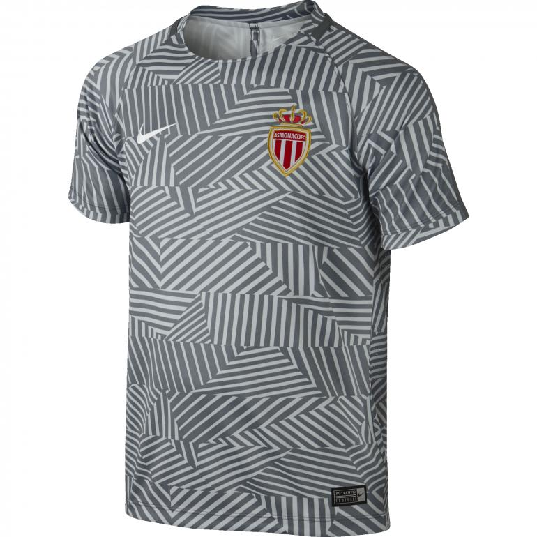 Maillot Avant Match Junior AS Monaco gris 2016 - 2017