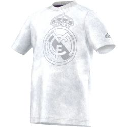 T-shirt Real Madrid blanc et gris