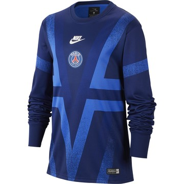 Maillot avant match junior manches longues PSG bleu 2019/20