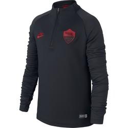 Sweat zippé junior AS Roma noir rouge 2019/20
