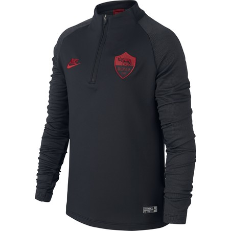 Sweat zippé junior AS Roma noir rouge 2019/20