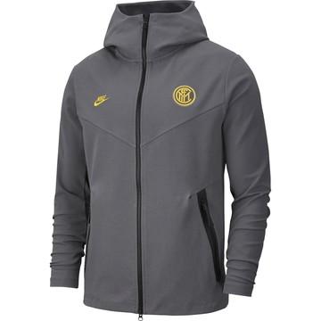 Veste survêtement Inter Milan TechFleece gris jaune 2019/20
