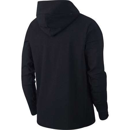 Veste survêtement AS Roma Tech Fleece noir rouge 2019/20