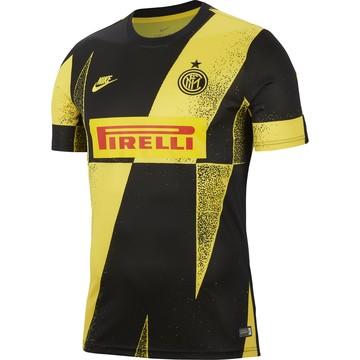 Maillot avant-match Inter Milan noir jaune 2019/20