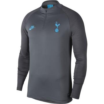 Sweat zippé Tottenham gris bleu 2019/20