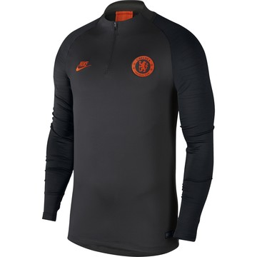 Sweat zippé Chelsea noir orange 2019/20