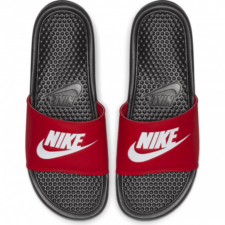 low price uk store fashion styles Sandales Nike Benassi rouge 2018/19