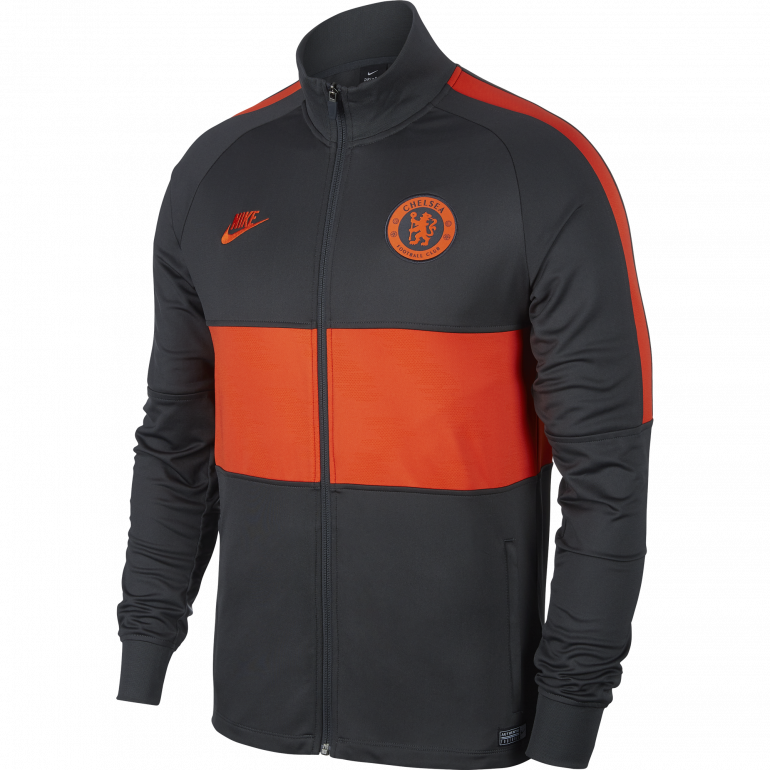 Veste chelsea noir et orange