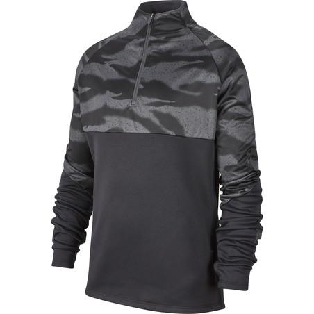 Sweat zippé junior Nike ThermaShield noir