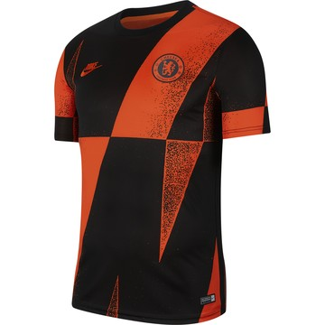 Maillot avant match Chelsea noir orange 2019/20