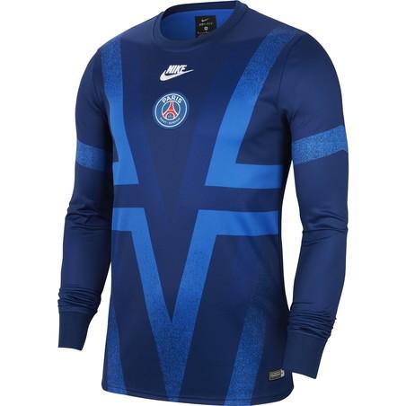 Maillot avant match manches longues PSG graphic bleu 2019/20